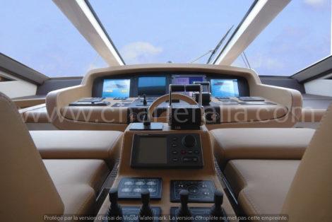Canados 90 cockpit yacht location ibiza
