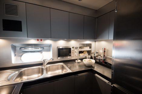 Kitchen on Leopard 90 yacht charter Ibiza