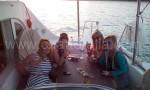 Cena su un noleggio barche Lagoon 380