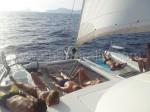 Navigare in catamarano a Ibiza