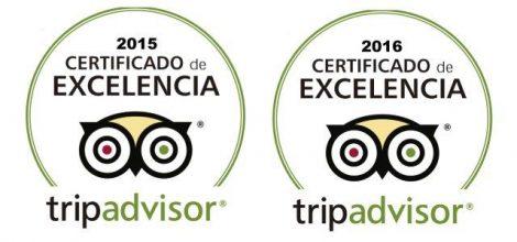 certificato di Eccellenza Tripadvisor 2015 e 2016 Charteralia Noleggio barche Ibiza