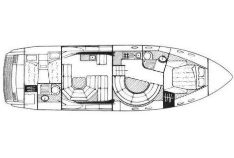 layout della mappa Sunseeker 46
