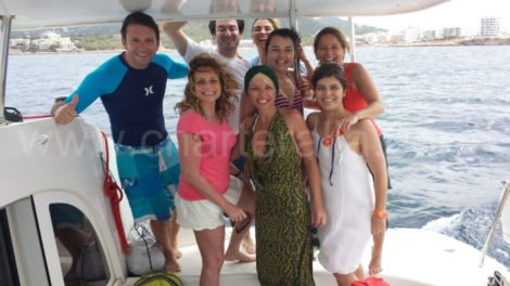 compleanno in yacht charter Ibiza