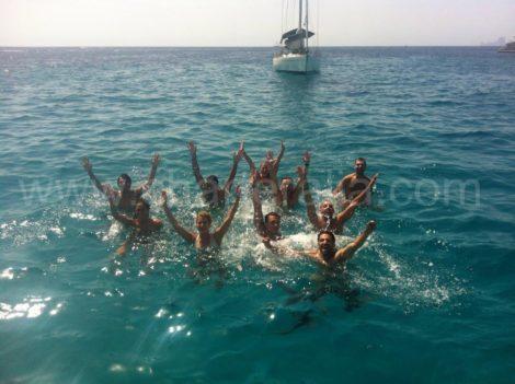 immersioni da una barca a Ibiza