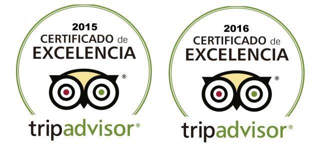 Certificaat van excellentie TripAdvisor 2015 en 2016, CharterAlia Ibiza Jacht