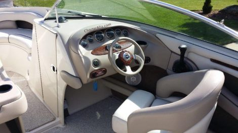 Roer van speedboot Sea Ray 210 in Formentera te huur