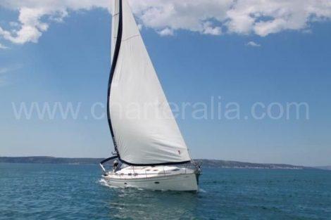 Zeilboot charter op volle zeilen in Ibiza