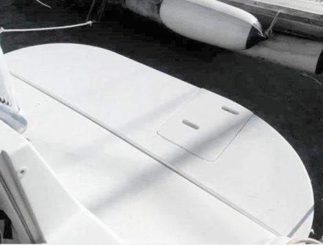 Zwemplatform op Sea Ray 270 speedboot huren op Ibiza en Formentera