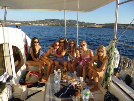 Capaciteiten van de catamaran Lagoon 380 op Ibiza