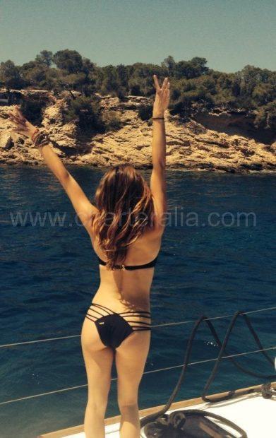 Ibiza gestreepte bikini