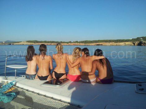 Vier vrijgezellenavondmeisje Formentera