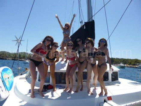 Vrijgezellenfeest in Formentera vanaf Ibiza