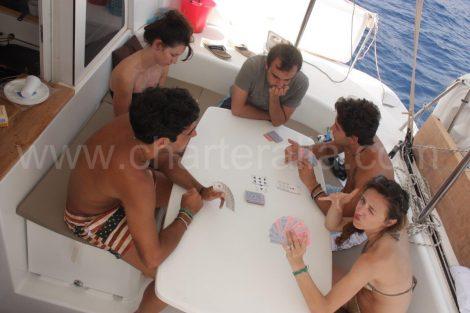Kaartspellen aan boord