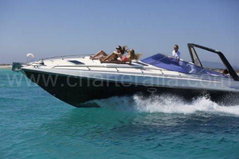 Jacht charter Sunseeker 43 Thunderhawk op Ibiza