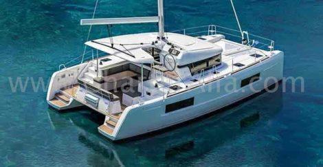 Modelboot te huur in Lagoon 40 van de Baleares