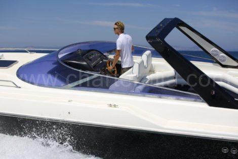 Thunderhawk Sunseeker 43 motorjacht voor charter in de Pitiusas eilanden