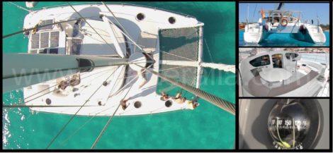 zicht vanaf catamaranmast Fountaine Pajot Belize 43