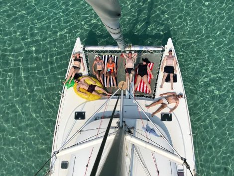 Carta de catamarã em Formentera e Ibiza