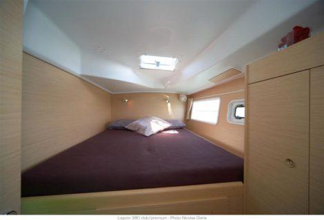 cama em catamara de cabine