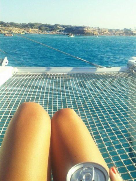 As redes sao sem duvida, um dos melhores lugares para se deitar no catamara