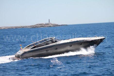 Baia 54 Aqua aluguer de iate a motor em Eivissa