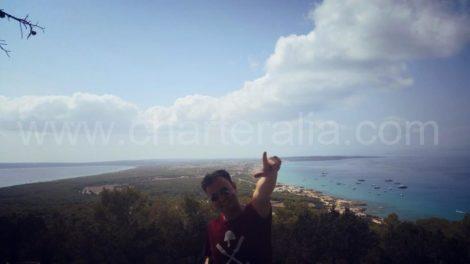 No meio de Formentera