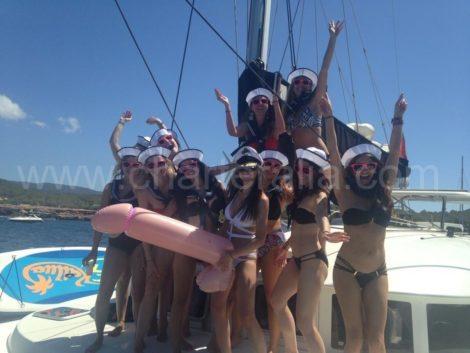 barco a vela Ibiza bachelorette fim de semana
