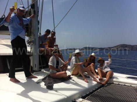 frente catamaran fountaine pajot belize