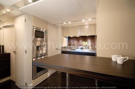 Canados 90 cozinha iate de luxo ibiza