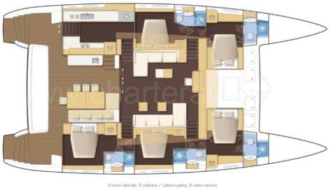 План этажа катамаран Lagoon 620