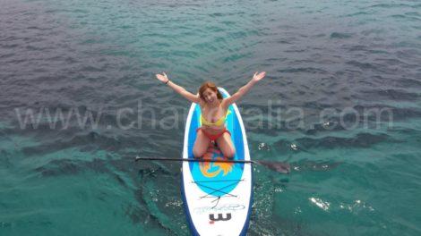 встать весло серфинга на ибице