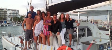 catamaran Lagoon 380 en puerto de San Antonio en Ibiza