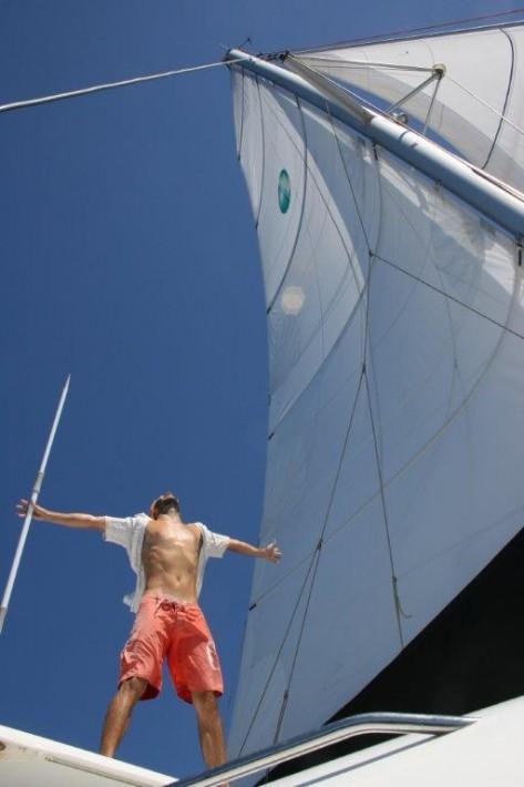 patron catamaran Ibiza