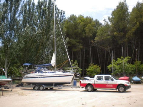 velero remolque transportable
