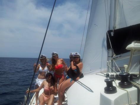 alquiler veleros Malaga para despedidas de soltera