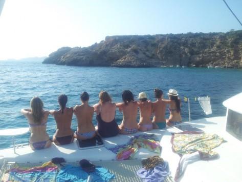 despedidas de soltera Malaga barco