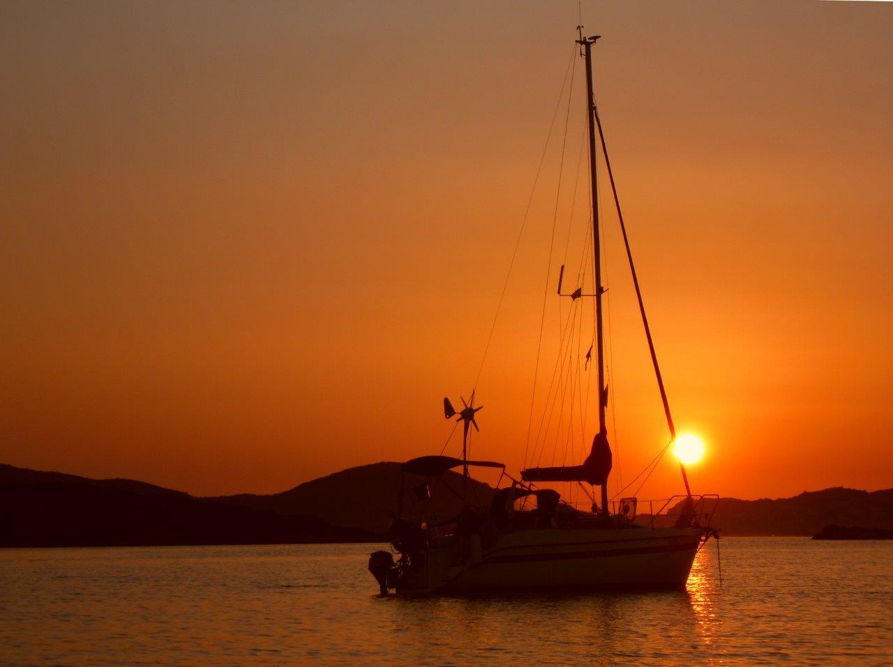 sunset sailing boats rocks - photo #14