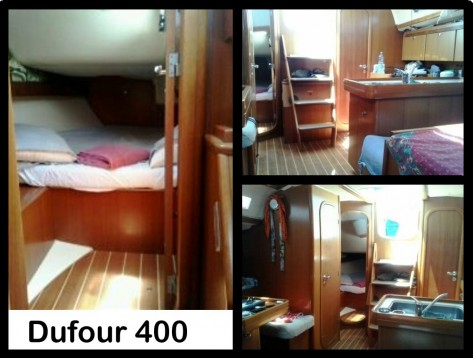 Interior velero alquiler Dufour 400 Ibiza