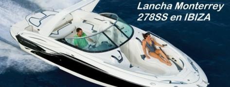 lancha de charter Ibiza Formentera Monterrey 278SS