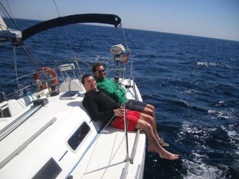 velero de charter con patron Ibiza