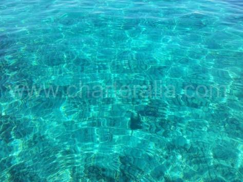 Aguas de Cala Conte en Ibiza
