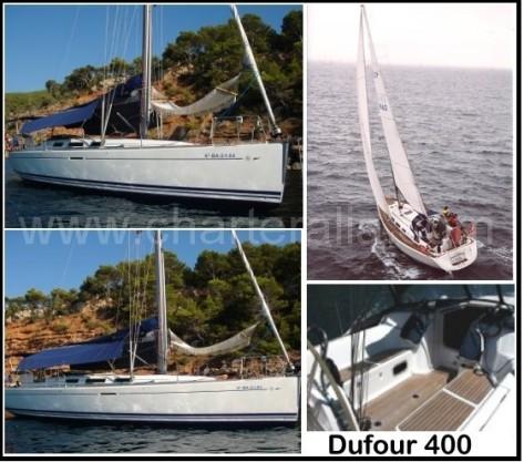 fotos alquiler de velero dufour 400 en Ibiza