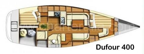 planos dufour 40 dos cabinas