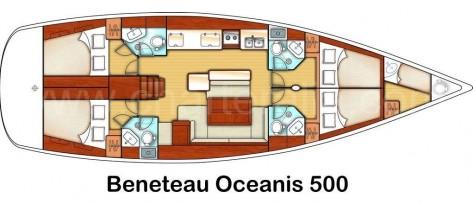 planos velero Ibiza Beneteau Oceanis 500