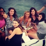 A punto de subir al catamaran