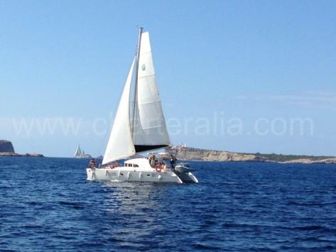 El catamaran Mister Binguel de Charteralia