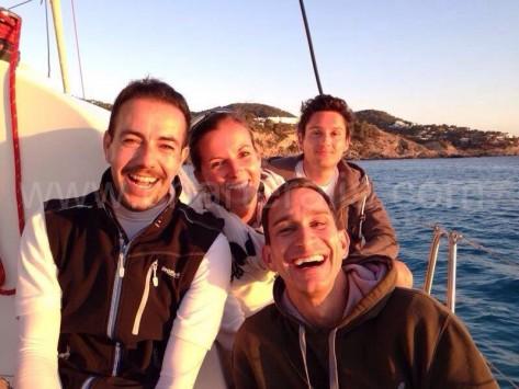 Con el velero fondeado en Cala Vedella Ibiza