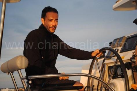 Jose Navas, el capitan de barcos de alquiler en Ibiza