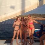 La alegria de alquilar un barco en ibiza