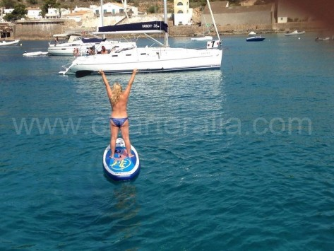Stand up paddle surf playa de salinas sur de ibiza